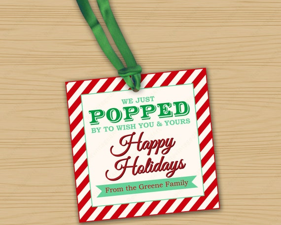 Items similar to Popcorn Gift Tags for Giving Goodies to ...