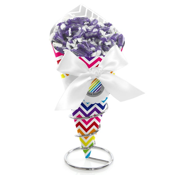 Chevron Rainbow Candy Bouquet Candy By BigDotOfHappiness On Etsy