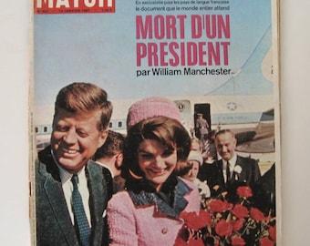 PARIS MATCH / Historical magazine / Kennedy / 14 january 1967 / Number 927 / French vintage magazine