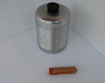 Vintage Aluminum Tea Canister