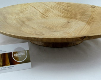 Fruit plate or service made from Big leafe Maple apprx. 15 in. x 2 3/4 in. item number: 52