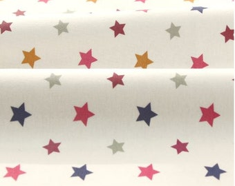 Mini Stars Pink Pattern 40s Cotton Interlock Knit Fabric by Yard
