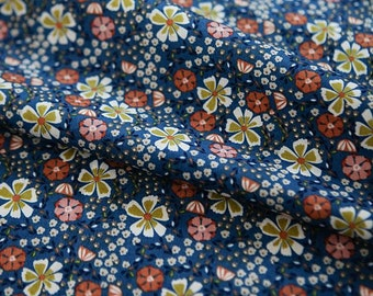 Lovely Flower Pattern Cotton Fabric by Yard