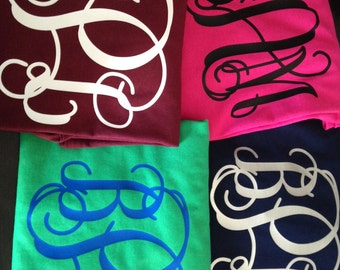 Long Sleeve Monogram Shirt Glitter too
