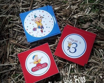 Caillou cupcake toppers printable PRINTABLE cupcake toppers For Birthday Party