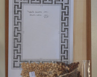 Wooden Frame with greek key - kit mosaic - handmade