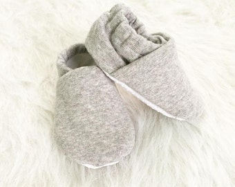 CASUAL GRAY soft sole baby shoes, light gray