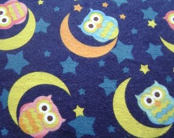 Night Owl Flannel Fabric (1 yard 20 inches)