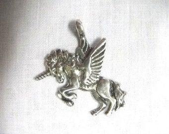 Mythological Gorgeous Fantasy PEGACORN Unicorn Pegasus Horse Mystical Creature Pewter Pendant Adj Cord Necklace
