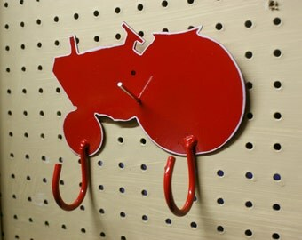 Tractor Hook. Farm. Farmall. Case. Red. White. Hook. Coat. Hat. Towel. Multi Use Rack. Handmade. Gift.