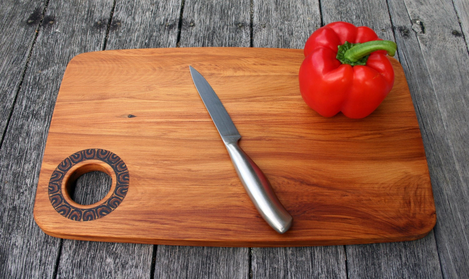 Reclaimed wood cutting board chopping board cheese by for Recycled wood board