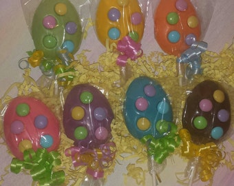 Easter egg with M&M candies