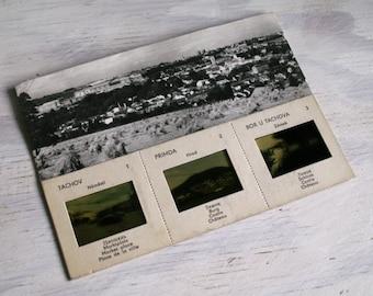 Vintage Postcard Prague 1966 Orbis USRR Black White Scenery Photo Slide