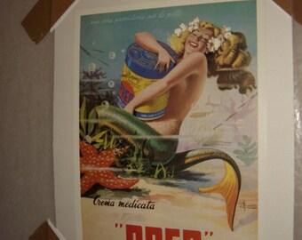 Vintage, Original, Italian art work, poster circa 1940's