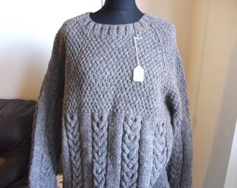 10% Off Genuine Aran Handknitted Pure Wool Jumper Adult size Promo Code 2802016