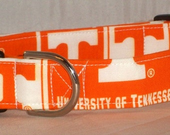 University of Tennessee Volunteers dog collar, Volunteers dog collar, University of Tennessee dog collar, University of Tennessee martingale