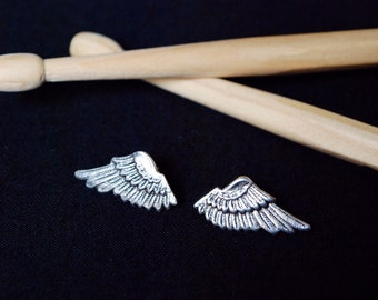 Sterling silver 925 plater over brass earrings with wing stamping DREAM by KREATURE bijoux - DREAM collection