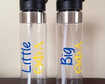 Water Bottle for Sorority! - Choose your Font and Colors