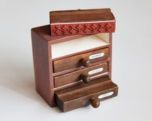 Vintage Style Wooden Drawer Set - Korean Rubber Stamps For Scrapbooking Packaging Cardmaking Giftwrapping Wedding Tags