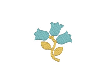 BUY 2, GET 1 FREE - Filled Mini Bluebell Flower Machine Embroidery Design in 3 Sizes - 1.5 inch, 2 inch, 3 inch -  Floral Element