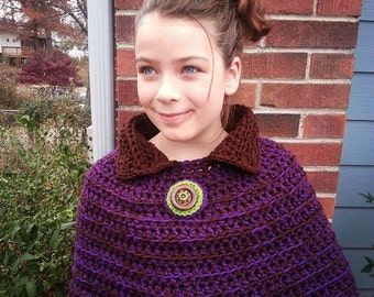 Plum Chocolate Capelet from the Hug Collection