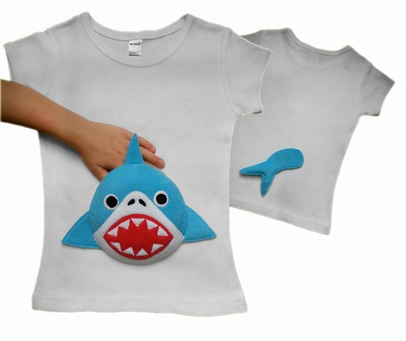 shark shirt shark tshirt shark clothing baby by MyPalPockets