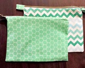 2 zipper pouches CUSTOM ORDER for Natalie