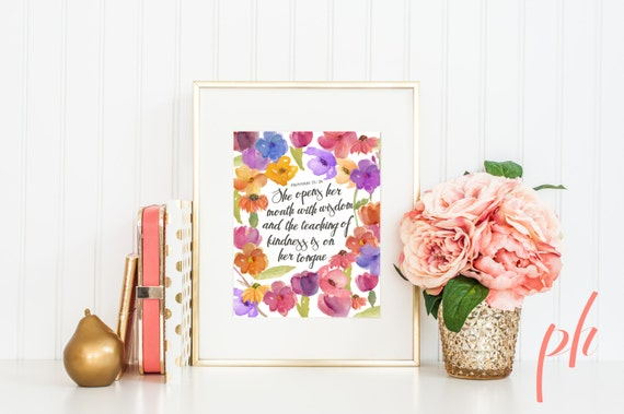 Christian Wall Decor For Nursery : Printable wall art nursery decor christian bible verse
