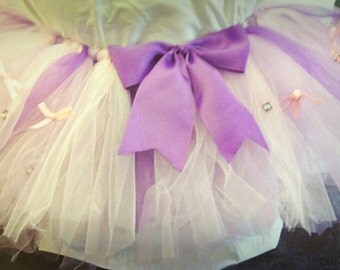 Pink purple white tutu