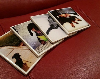 Personalized Drink Coasters - Ceramic Tile Drink Coasters - Personalized Coasters with Photos - Gifts For Him, Gifts For Her