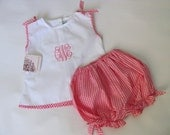 Baby Outfits for girls, Baby Shower Gift Set, Baby Outfit, Infant Outfit, Monogrammed, Baby Girl Gift, Pink Gingham 3M