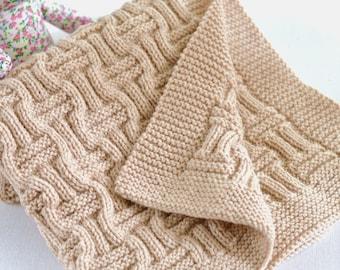 Double Knit Baby Blanket Pattern : Popular items for aran pattern on Etsy
