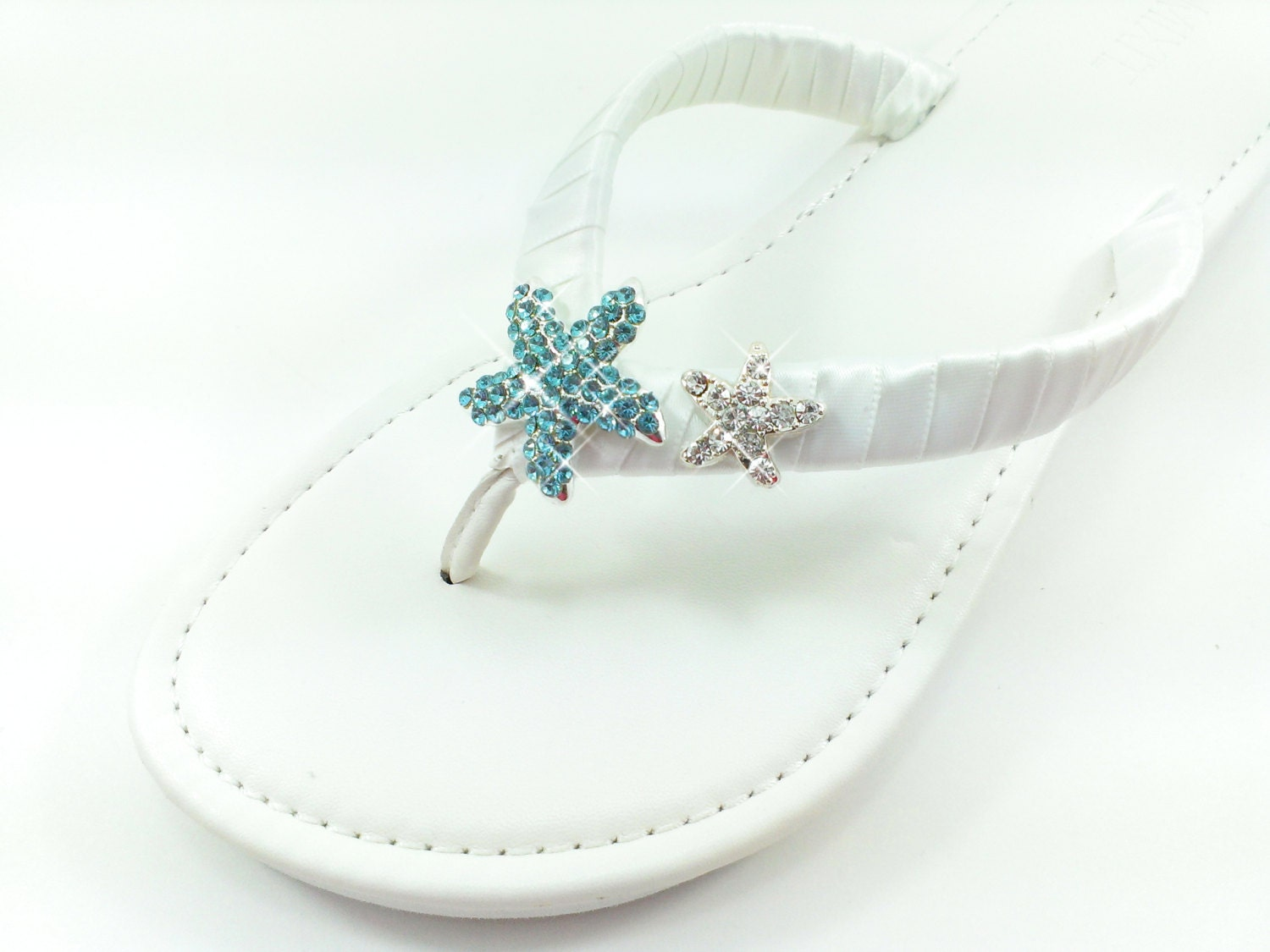 beach wedding wedge flip flops aqua blue teal wedding platform