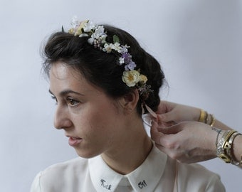 Pleione Hand Made Silk Wedding Flower Crown