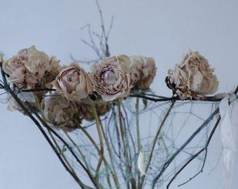 Dried Peony Vase