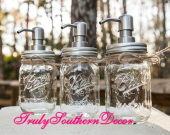 Clear Mason Jar Soap Dispenser