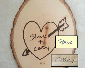 Your Handwriting Wood Burned Wall Hanging- first anniversary gift- couple gift-wood have said