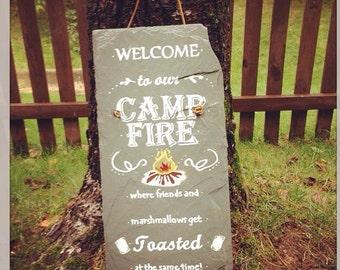 Camp Fire slate