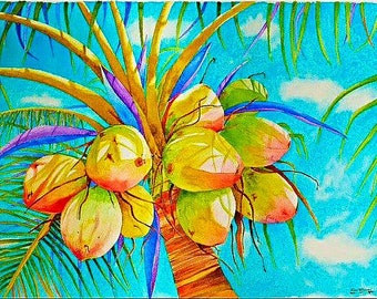 Coconut - On Canvas