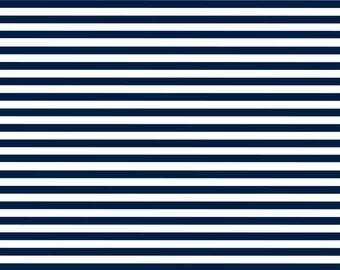 Navy & White Pin Stripes, Digital Paper