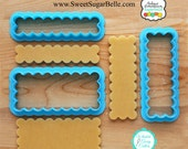 Scalloped Cookie Stick Cookie Cutter and Fondant Cutter by Sweet Sugar Belle