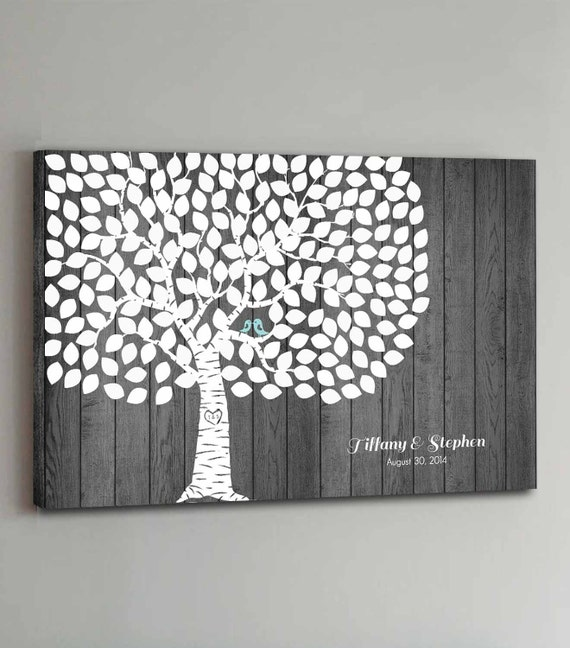 200 Guest CANVAS Wedding Guest Book Rustic Wood Wedding Tree Wedding Guestbook Canvas Alternative Guestbook Canvas Wedding - Rustic Wood
