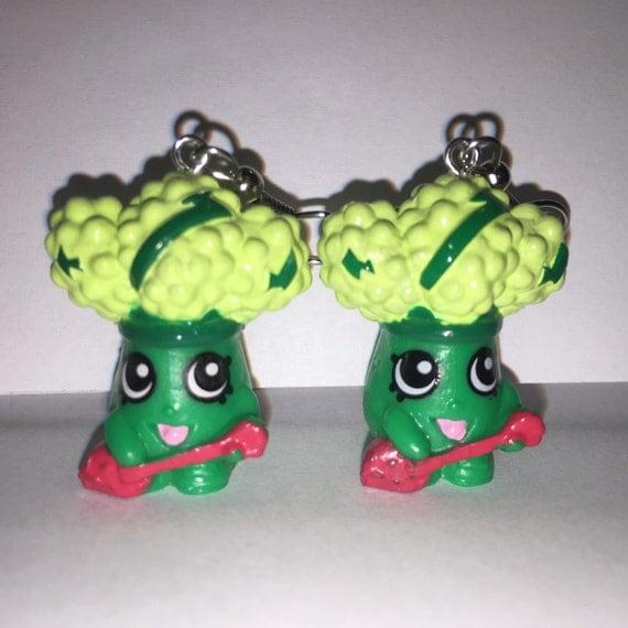 shopkins foodie earrings rockin broc repurposed toys