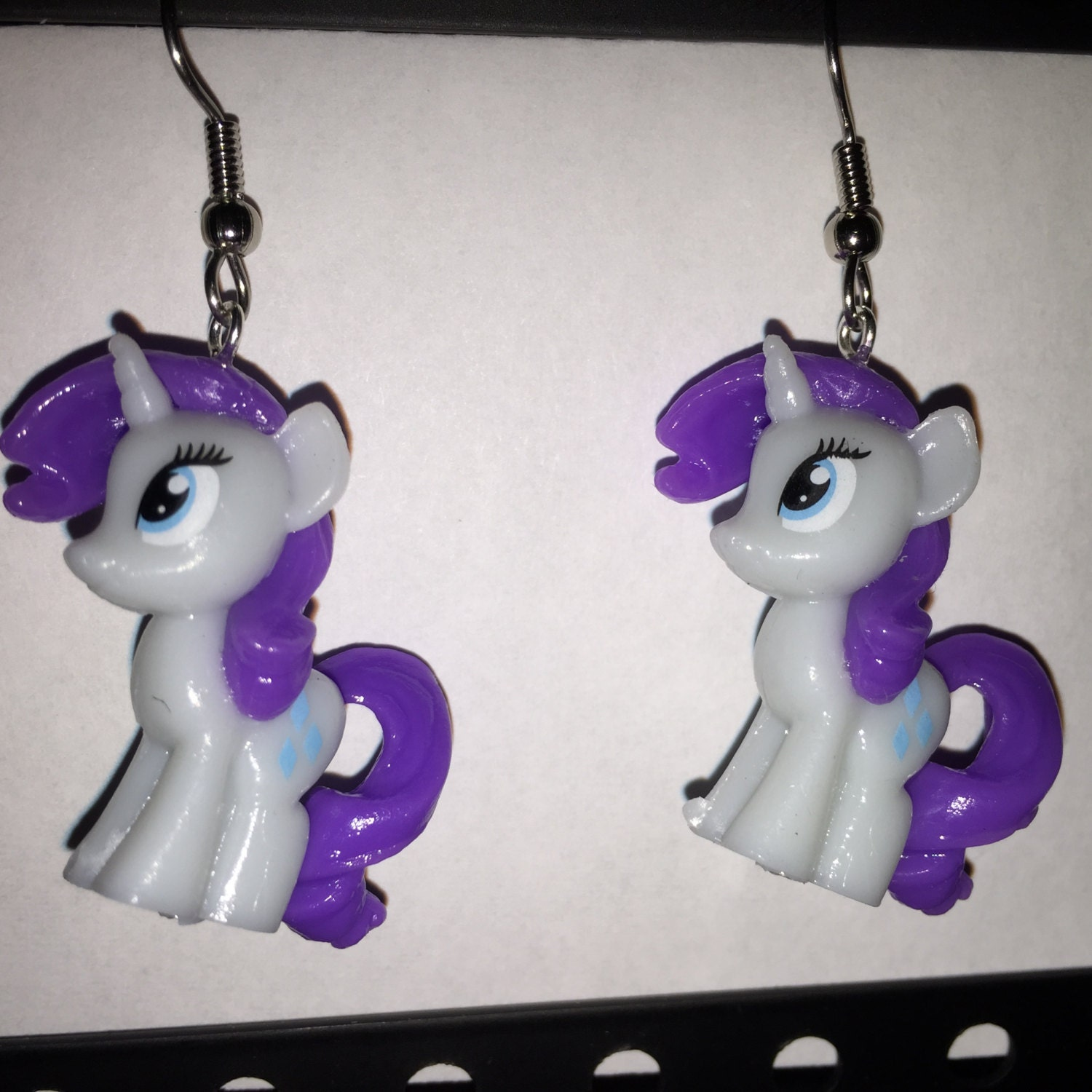 Mlp Squishy Toys : Squishy Pops Earrings My Little Pony Rarity made from by ErinEtc