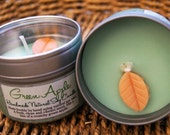 SALE - Green Apple Natural Soy Wax Candle
