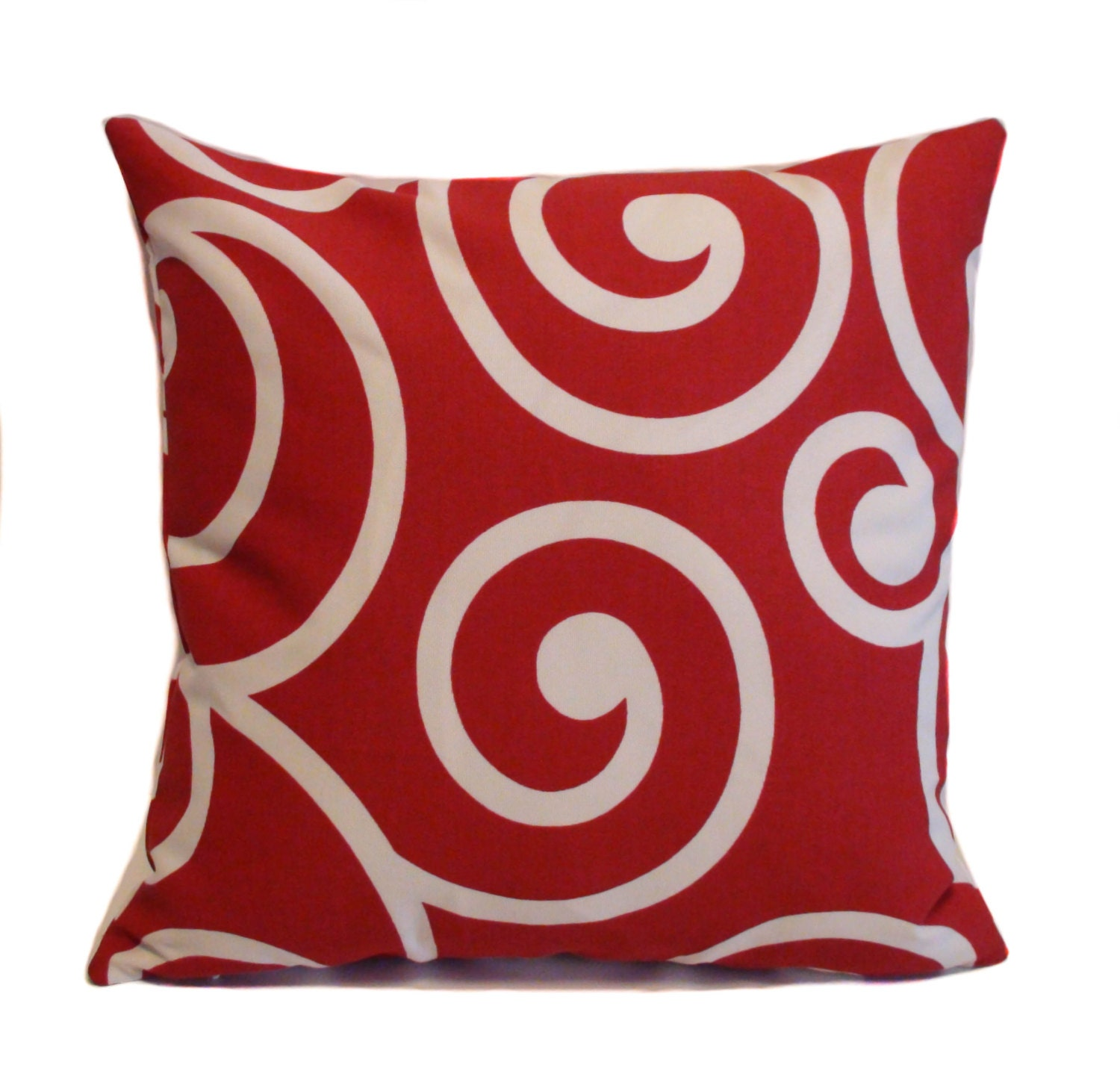 Red outdoor pillows 18x18 Red and white outdoor by