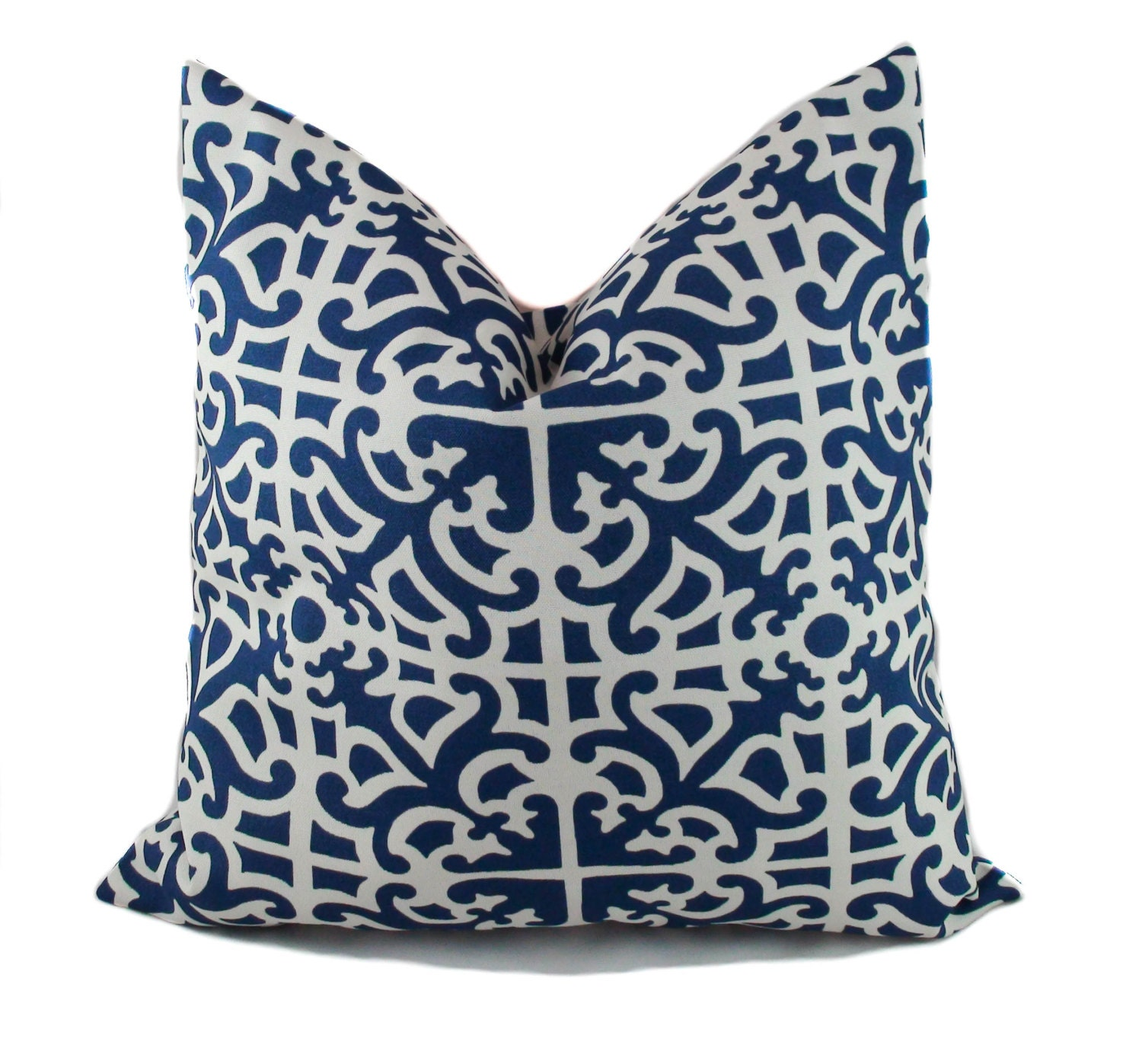 Blue outdoor pillow Blue outdoor pillow cover by PillowCorner