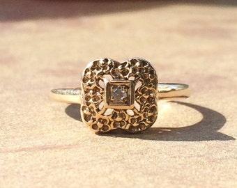 Modern Gold Ring / Diamond Ring