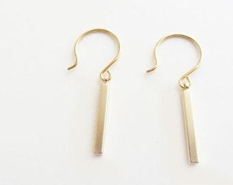 Gold bar earrings / bar earrings/ gold earrings/bar earrings gold