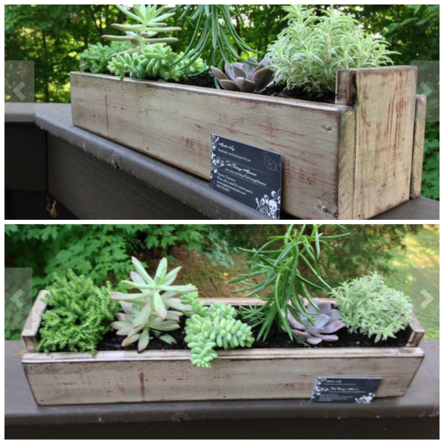 Made To Measure Bespoke Wooden Planters: Window Box Flower Pot Planter Succulent By TheVintageHammer